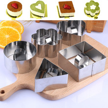 Fantastic Kitchen Cookie Biscuit Cutter Mold Dough Cutters for Children Baking stainless steel Geometric Fondant