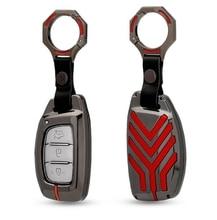 Car Key Wallet Holder Case For Hyundai HB20 IX20 Solaris Creta Getz IX25 IX35 Elantra Accent Tuscon 2018 Smart Fob Key Cover