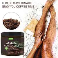 Cosprof Coffee Scrub Body Scrub Cream Facial Dead Sea Salt For Exfoliating Whitening Moisturizing Anti Cellulite