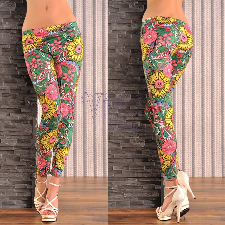 Online Shop 2015 Hot Sell Floral Printed Leggings Workout Clothes ...