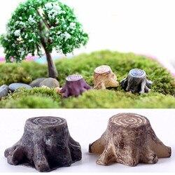 Nowa gorąca sprzedaż wyroby dekoracyjne miniaturowe wielobarwne drzewo kikut Fairy Terrarium boże narodzenie Xmas Party Garden prezenty w Posągi i rzeźby ogrodowe od Dom i ogród na