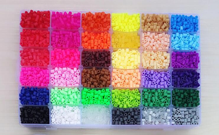36 perles Perler couleur 12000 pièces boîte lot de 5mm Hama perles de qualité alimentaire EVA fusible perles pour enfants éducatifs puzzle jouets