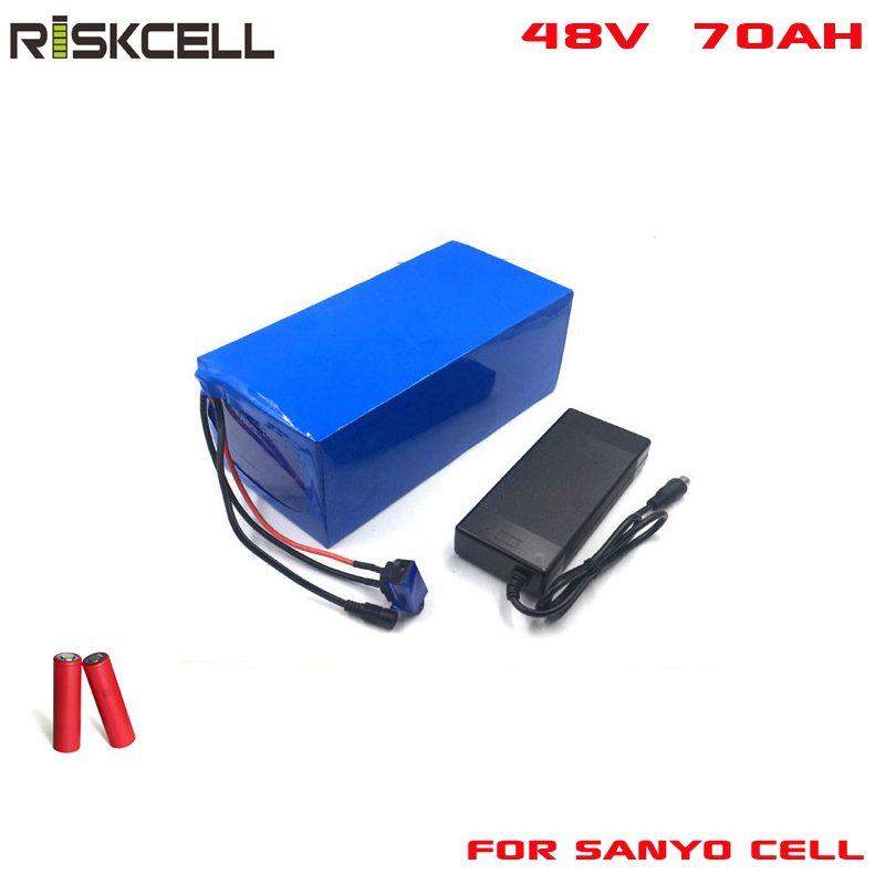 48V 70Ah rechargeable lithium ion battery pack 48V  li-ion battery For electric vehicle bike scooter Golf Cart For Sanyo cell free customs taxes powerful 48v 1000w electric bike battery pack li ion 48v 34ah batteries for electric scooter for lg cell
