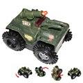 1:35 Электрический Мигающий Stunt Пропустить в Бак Военная Модель Toys Моделирование Мини Модель Cars Новый Электронный Автомобиль С Светом