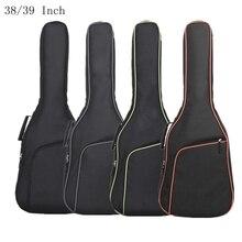 38/39 inç Oxford kumaş gitar kılıfı renkli kenar Gig Bag çift sapanlar yastıklı 10mm pamuk yumuşak su geçirmez sırt çantaları