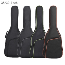Mochila colorida oxford 38/39/Polegada, bolsa de tecido oxford para guitarra, com borda dupla, acolchoada, de algodão macio, à prova dágua