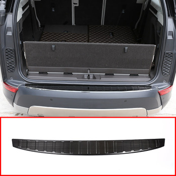 Stainless Steel Di Luar Pintu Belakang Bumper Pelindung Sill Lecet Lecet Plate Trim untuk Land Rover Discovery 2017/Aksesoris Mobil