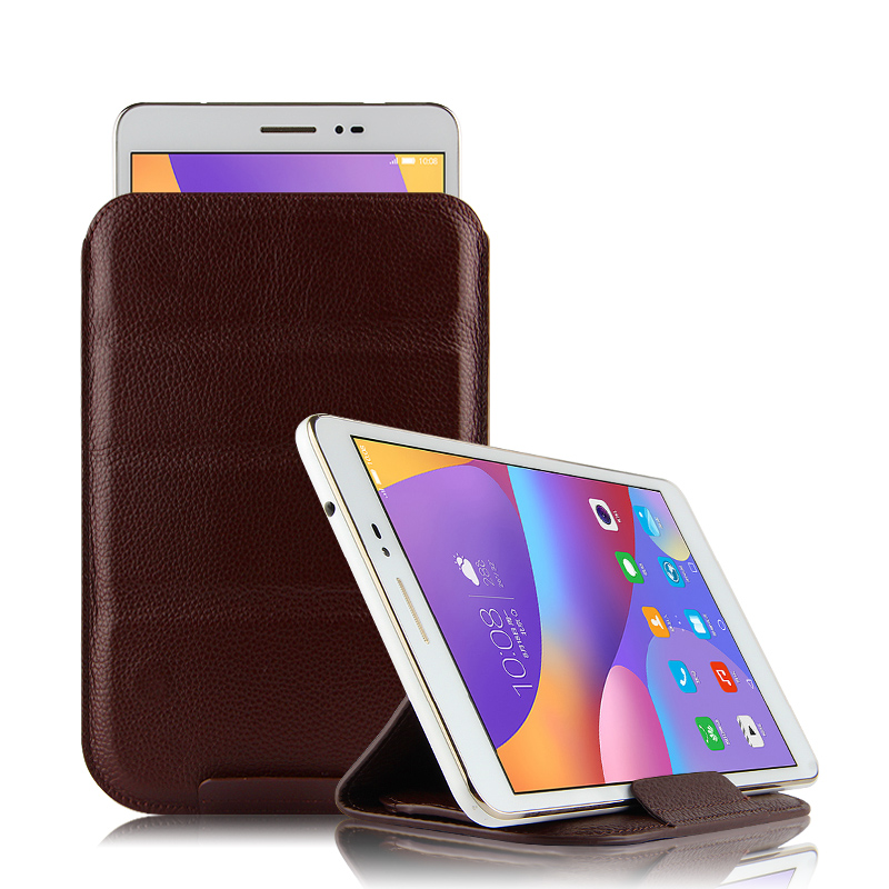 Case Cowhide Sleeve For Sony Xperia Tablet Z3 SGP612 Protective Cover Genuine Leather For sony z3 sgp621 8.0 Tablet Pouch Cases чехол deppa air case для sony xperia z3 розовый 83140