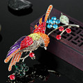 Горячий Продавать Большой Размер Птицы Брошь Pin Для Женщин Партия Подарков Блестящий Австрийский хрусталь Хиджаб Аксессуары Эмаль Броши Broahces