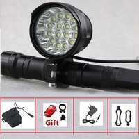 Rechargeable 27000 Lumen Led LBike Light 16x Cree XML T6 Cycling Bicycle Torch 16T6 Led Road Bike Lamp With 18650 Battery Pack