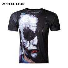ZOOTOP BEAR New half face Joker 3d t shirt funny character joker Brand clothing design 3d t-shirt summer style tees top print
