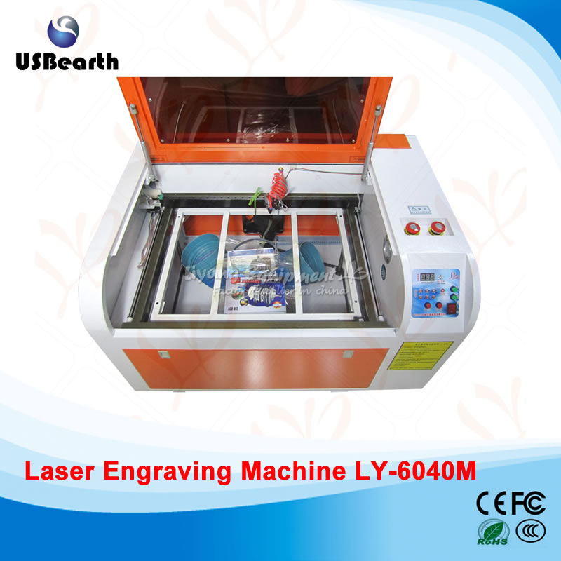 LY CO2 Laser cutting engraver 6040M 60W high speed 400MM/S square rail ship to EU no tax s quire s quire ly b9 3