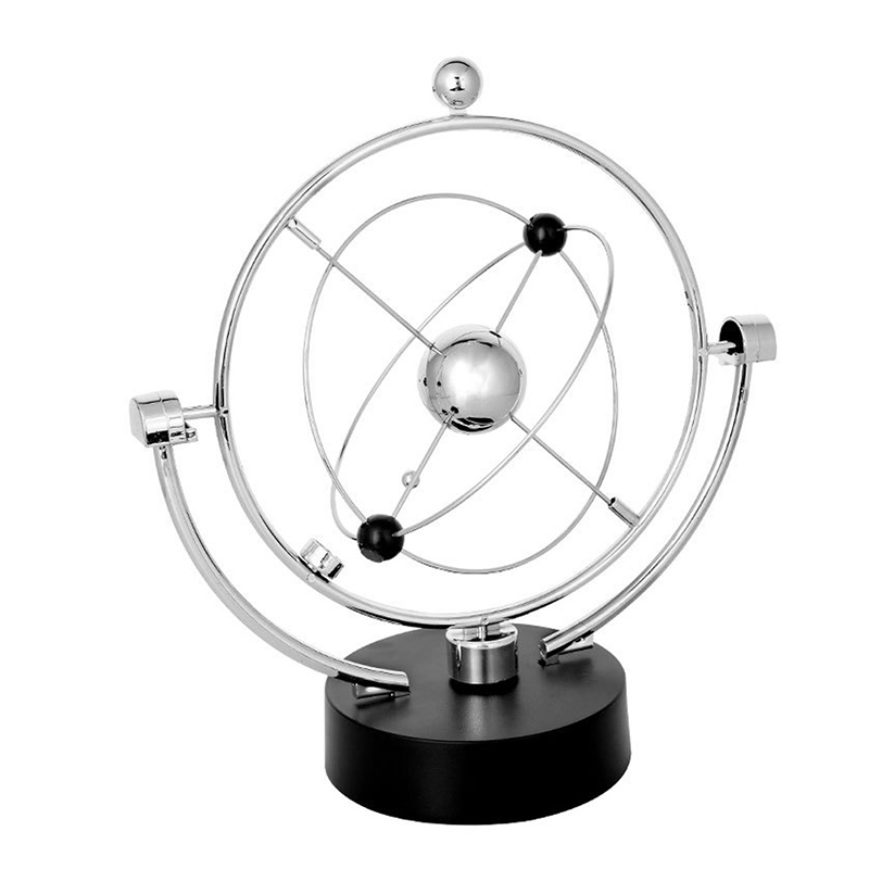 Noenname_null High Quality Kinetic Orbital Revolving Gadget Perpetual Motion Desk Office School Art Decor Toy Gift To Be Highly Praised And Appreciated By The Consuming Public Office & School Supplies Educational Equipment