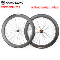 2:1 lacing !! FSC60CM-25U clincher tubeless ready carbon road cycling bike wheels   ED hubs light weight and Sapim aero