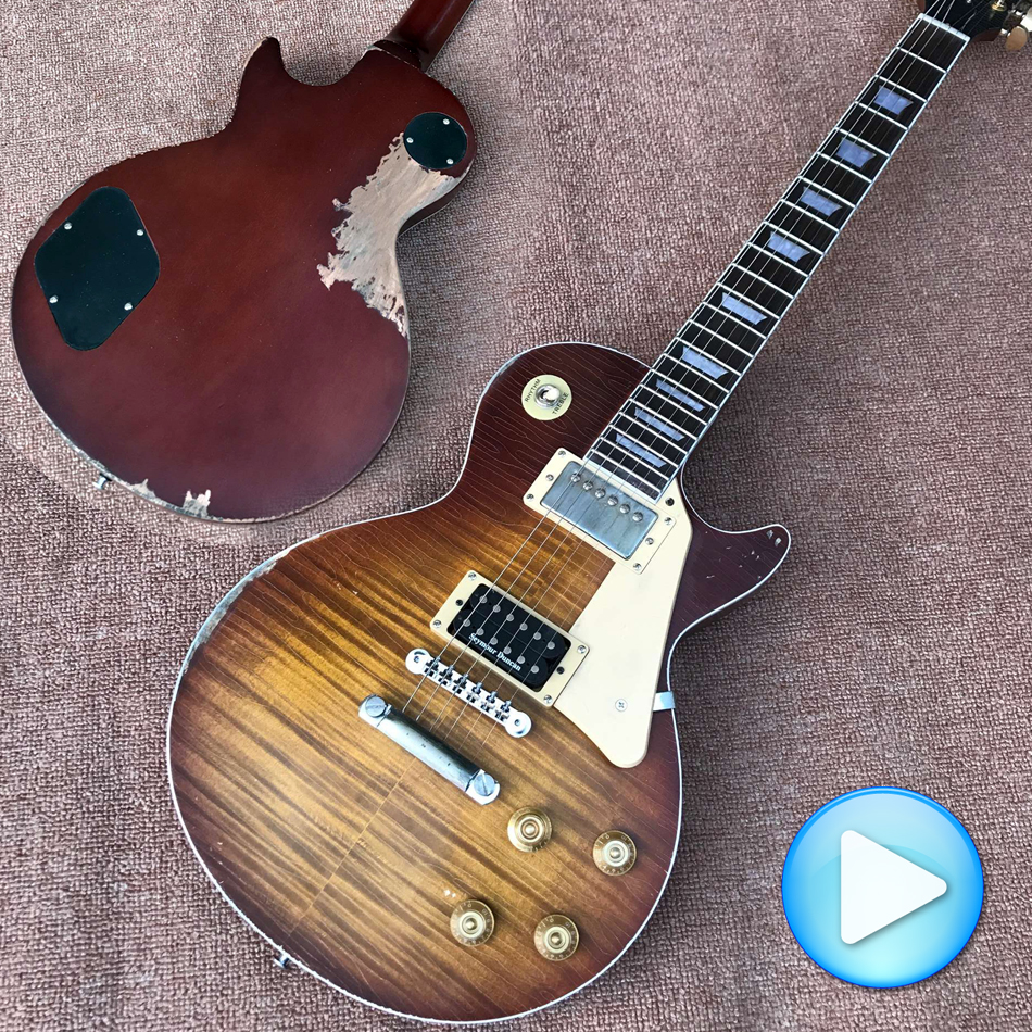 Free delivery custom wholesale to do old collectors choose 1959 Minnesota burst electric guitar ...