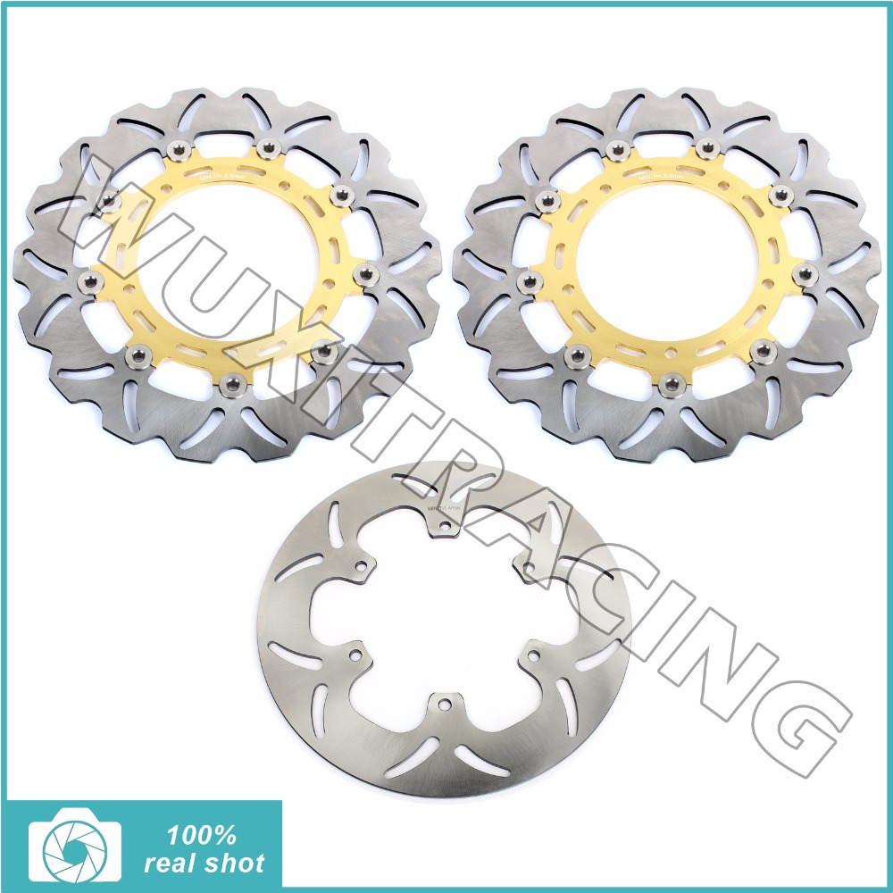 3X Motorcycle Front Rear New Full Set Brake Discs Rotors for YAMAHA XTZ 1200 SUPER TENERE 2010 2011 2012 2013 2014 10-14 new intank efi fuel pump for ski doo mxz x 1200 tnt 2012 2013 for ski doo mxz x 1200 4 tec 2014