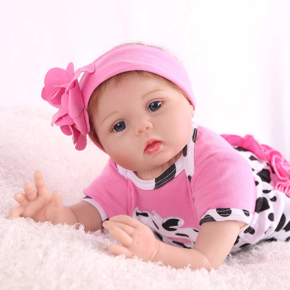 KAYDORA 55 cm Corpo Lifelike Boneca Reborn Bebê Silicone Macio Pano Vaca Rosa Menina Recém-nascidos Bonecas Crianças Playmate Presente de Aniversário moda