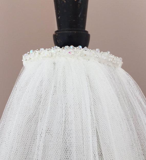 ეკლესიის საქორწილო veil 1.5MWhite / - საქორწილო აქსესუარები - ფოტო 4
