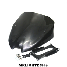 MKLIGHTECH For BMW G310R G 310R  2016-2018 Motorcycle Windscreen Wind Deflector Windshield Head Cover Sun Visor Double Bubble abs motorcycle windscreen windshield cover for 2016 2017 2018 bmw g310r g 310r 310 r wind shield deflector with mounting bracket