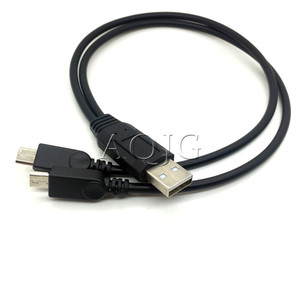 Image 1 - Lo más nuevo, 1 unidad portátil USB macho Universal Micro USB Dual macho Y cable divisor con adaptador