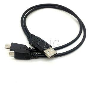 Image 1 - Mais novo 1 pc portátil usb macho universal micro usb duplo macho y adaptador divisor cabo