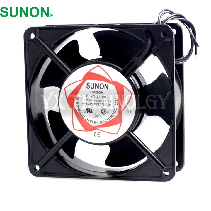 Sunon DP200A P/N 2123HBL  2123HSL  2123XBL  2123XSL  12038 120*120*38MM  12CM cooling  fan original delta ffb1224she 12cm 120mm 12038 120 120 38mm 24v 1 20a cooling fan