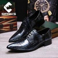 Sipriks Unique Designer Derby Shoes For Men Fashion Male Wedding Shoes Dark Brown Tuxedo Shoes Steel