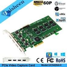 PCI Express hd video yakalama kartı 1080 p 4 Kanal HDMI Gerçek Zamanlı