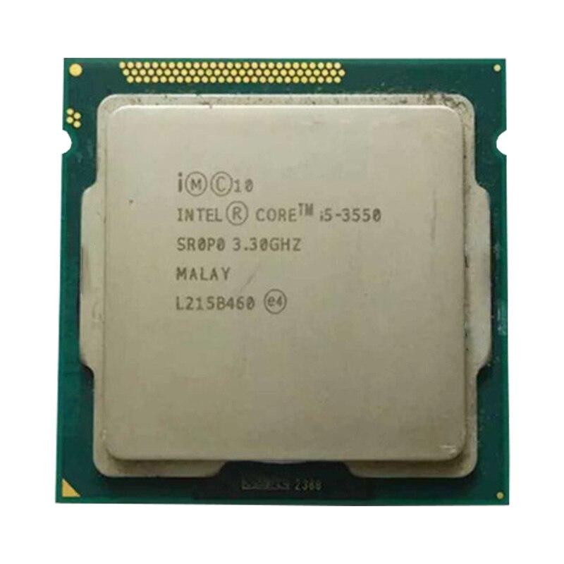 Intel i5 3550 cpu quad core cpu LGA 1155 buchse 3,2 Ghz verwenden H61 H67 Z77 Z68 H77 motherboard 77 w 3570 prozessor