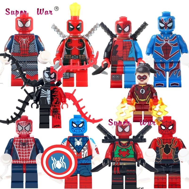 Model Building Realistic 50pcs Deadpool Spider Man Venom Vs Carnage Jesse Quick Ninja Figures Building Block Bricks For Kits Kid Girls House Children Toy An Enriches And Nutrient For The Liver And Kidney Blocks
