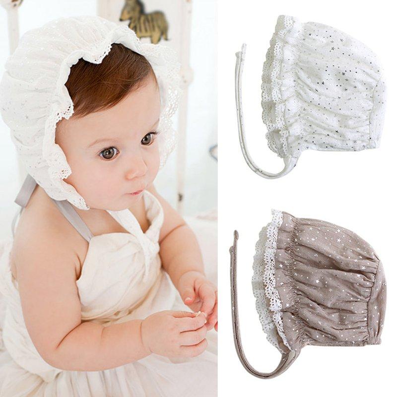 Baby Girls Hat Soft Warm Beanie Cap Infant Baby Cap Cotton Star Pattern Hats 0-8M