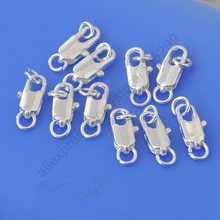 JEXXI Retail 50PCS 925 Sterling Silver Lobster Clasps For Necklace Bracelet With Opening 2