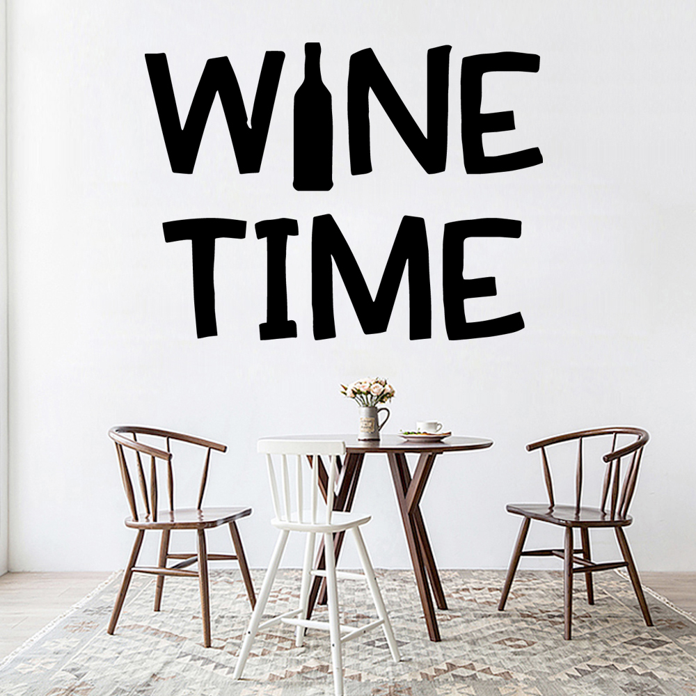 Beauty wine time Wall Sticker Home Decoration Accessories Removable Vinyl Mural Wallpaper Sticker Mural adesivi murali in Wall Stickers from Home Garden