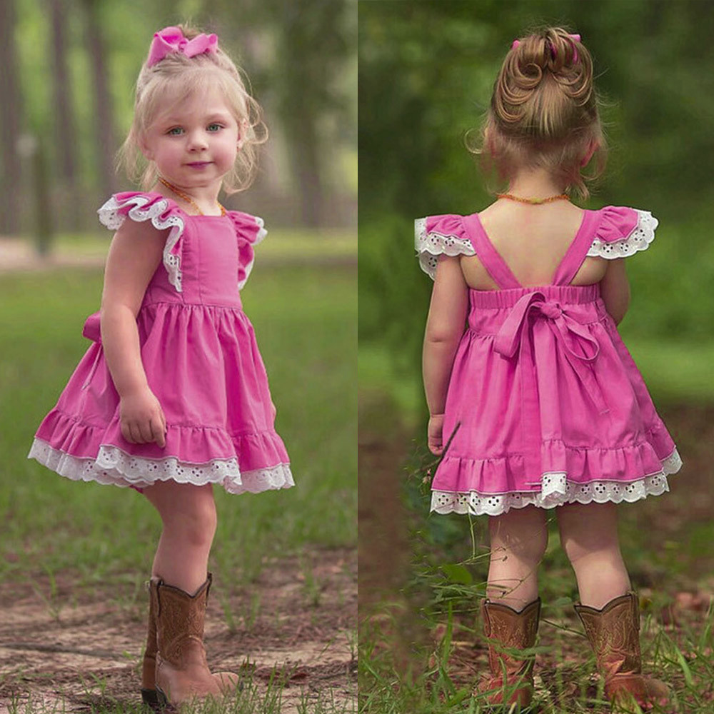 MUQGEW dress girl wedding pink kids dresses for girls summer elegant children's dresses sexy dress for young girls#G69(China)