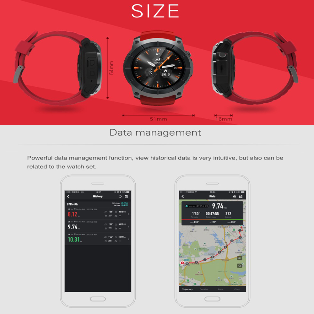 GPS SIM card GSM Sports Watch S958 MTK2503 Heart rate monitor Smartwatch multi sport model smart watch for Android IOS-in Smart Watches from Consumer Electronics    3