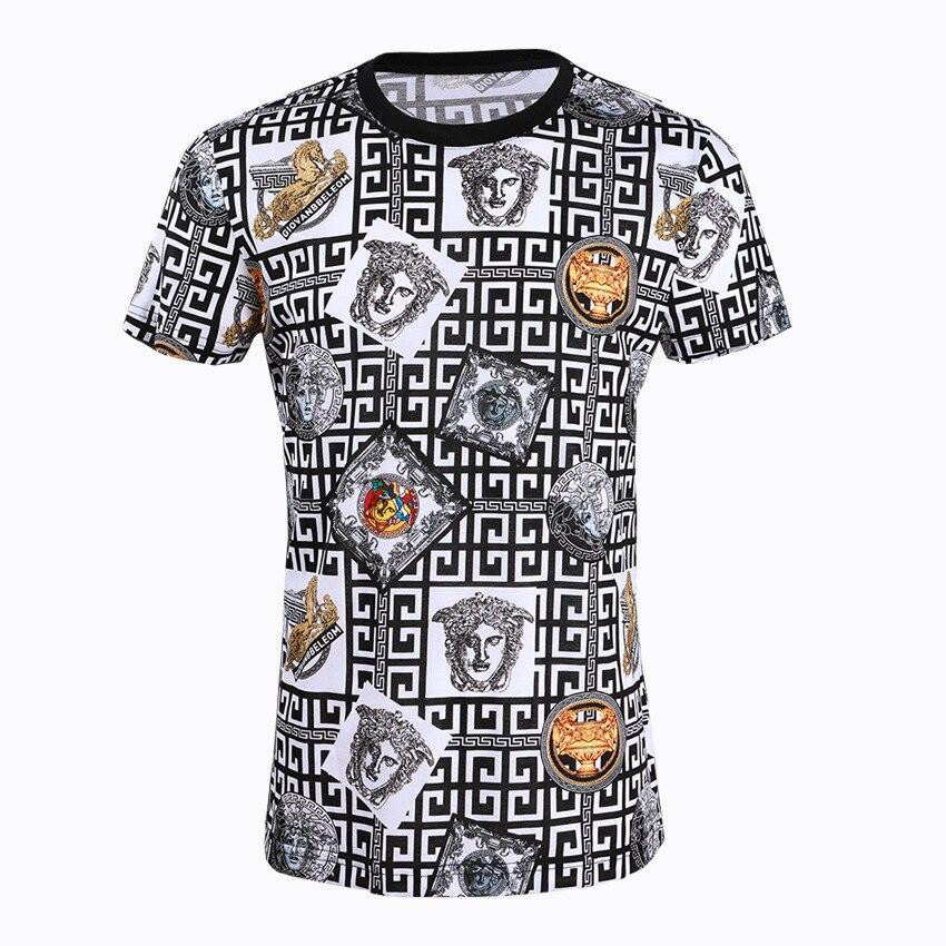 2019 nouveau labyrinthe avatar à manches courtes T shirt marée marque vêtements pour hommes-in T-shirts from Vêtements homme    1