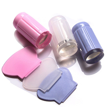 Clear Nail Art Jelly Stamper Stamp Scraper Set Polish Stamping Manicure Tools 9UBV