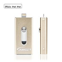 Metal USB Flash Drive 128gb OTG Pen 8gb 16gb 32gb 64gb Usb 3.0 Disk for iPhone X/8 Plus/8/7 Plus Memory Stick