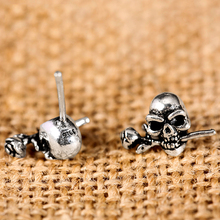 Lover Skull Rose Earrings