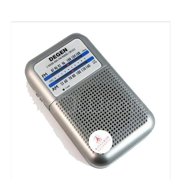 10 unids degen de333 fm am radio receptor mini handle a0796a portable de dos bandas de radio fm