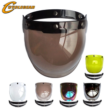 Universal Flip up Adjustable Bubble Visor Lens Face Shield Mask for Motorcycle Open Face Helmet Moto Capacete Casco Half Helmets