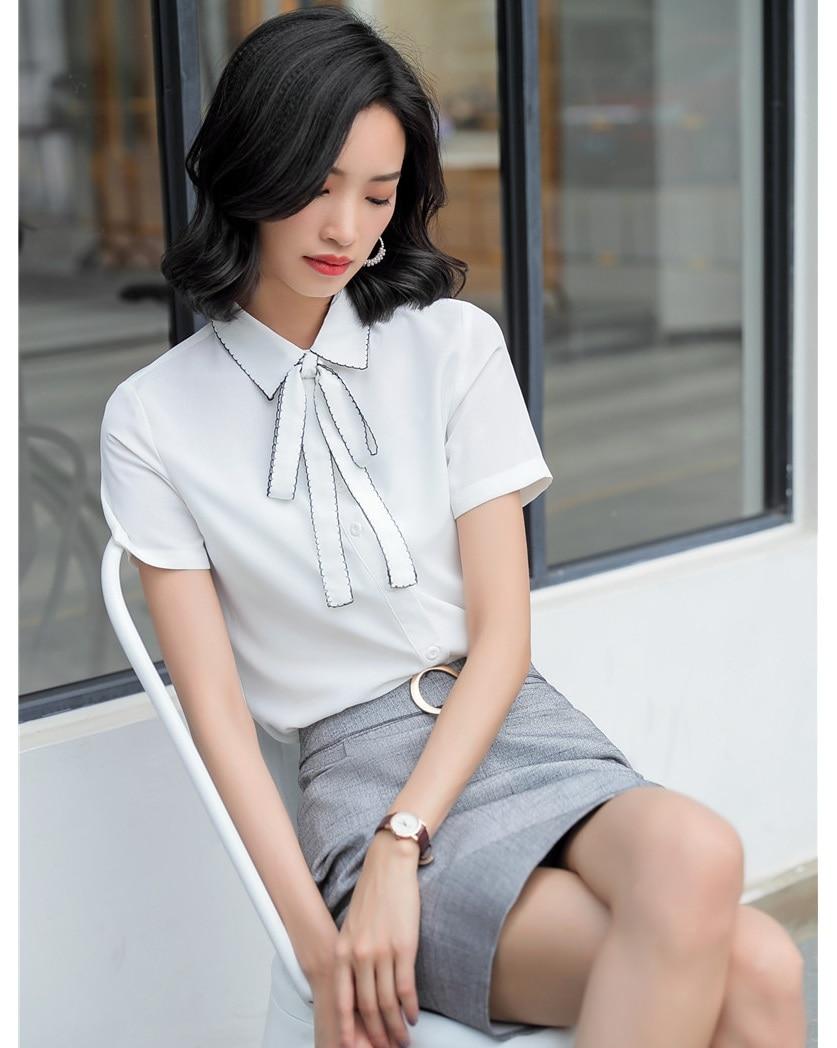 Blanco Corta Piezas Moda Y Señoras Las Falda Camisas Ol De Verano Estilos Conjuntos Manga Azul Mujeres Top Trajes 2 blanco Blusas xSa1FIwFq