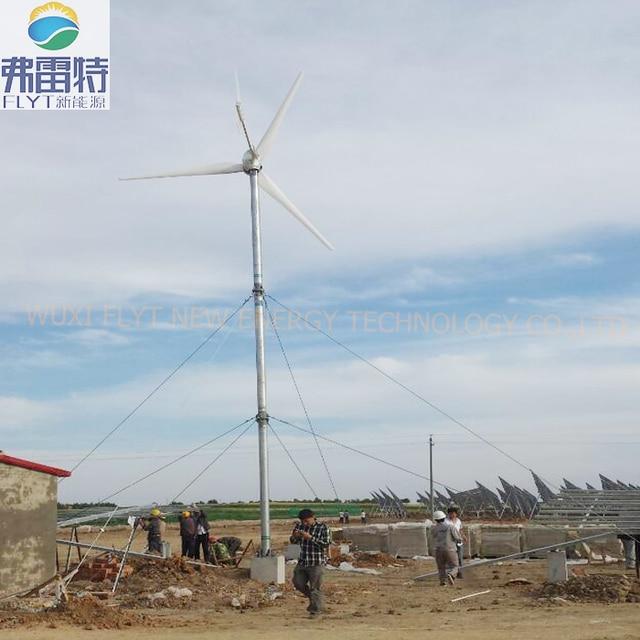 US $4560 0 5% OFF|5kw wind turbine free energy generator 220v 3blades hydro  generator-in Alternative Energy Generators from Home Improvement on