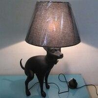 Современный черный Abajur собака настольная лампа приспособления для Спальня Гостиная E27 110 В 220 В настольные лампы Lamparas De Mesa ofertas Para хее