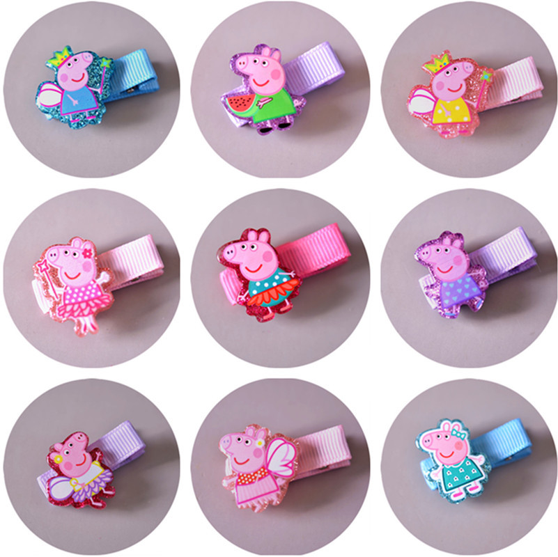 Hot Sale 1pcs Animal Hairpins Cartoon Pink Pig Hair Clips Cute kids Headwear for Girl Hair Accessories Doll Side Clip Hairgirps cute hot sale stripe design pantyhose for girl