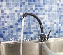 Черный кухонной мойки смесители поворотный кран JN92279-1