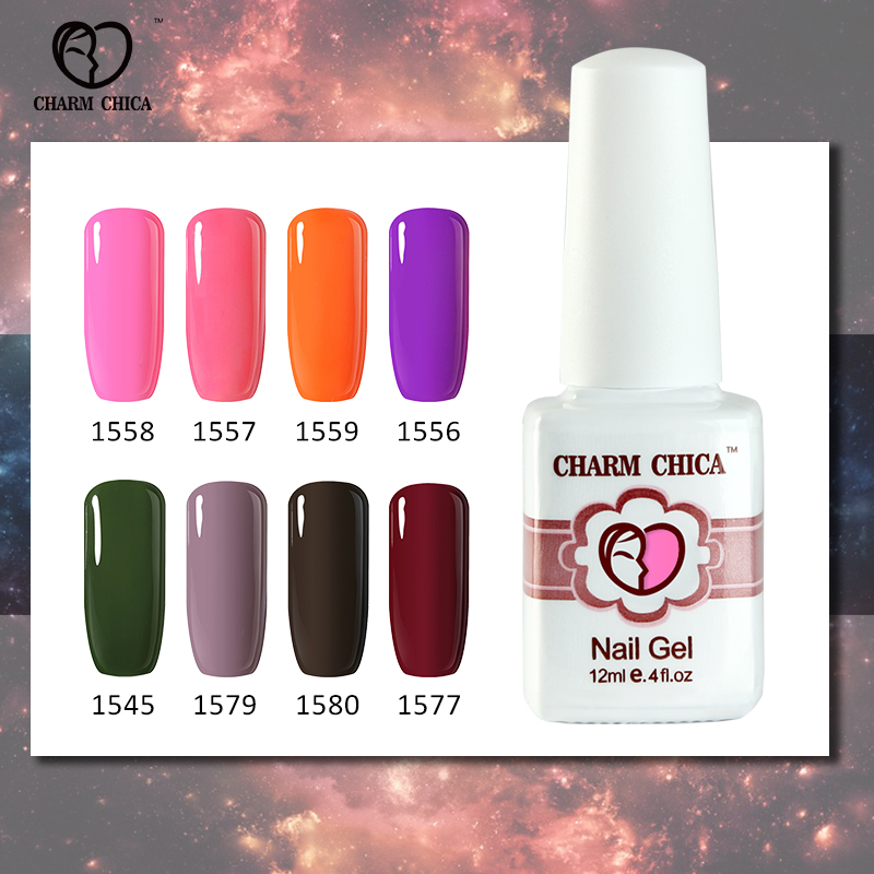 CHARM CHICA Varnishes Soak Off Nail Gel Polish UV Nail Art