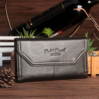 Gold Coral Cell Phone Men Waist Bag For Iphone 6 Plus 6 Inch Universal Leather Phone