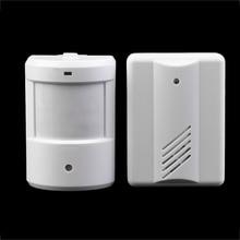 Detector inalámbrico de Alarma Patrulla Calzada Garaje Infrarrojos IR Remoto Inalámbrico Timbre de la Puerta de Seguridad del Sistema de Alarma Del Sensor de Movimiento Blanco