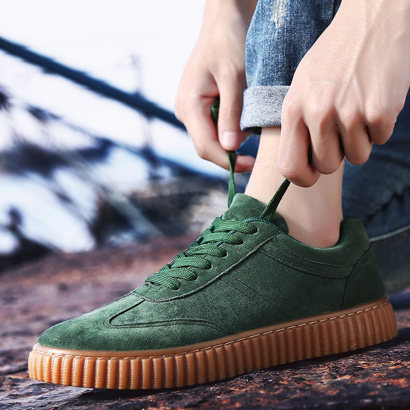 KUYUPP Men Casual Shoes quality creepers suede shoes size 39-44 luxury men shoes flats chaussure femme 2017 spring autumn Y171 (47)